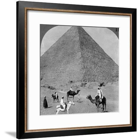 King Khufu's Tomb, the Great Phyramid of Giza, Egypt, 1905-Underwood & Underwood-Framed Art Print
