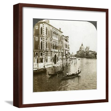 The Grand Canal, Venice, Italy-Underwood & Underwood-Framed Art Print