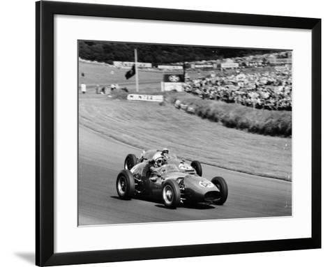 An Davison and Gino Munaron During Formula Intercontinental Race, Brands Hatch, August 1961--Framed Art Print