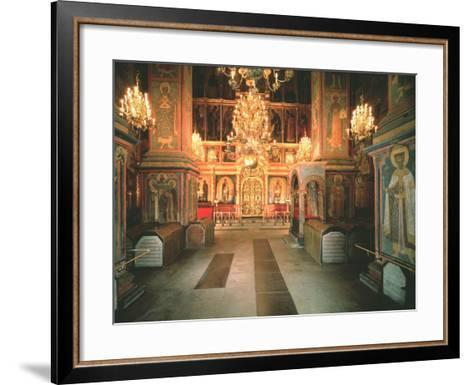 Interior of the Archangel Michael Cathedral in the Moscow Kremlin, 1679-1681--Framed Art Print
