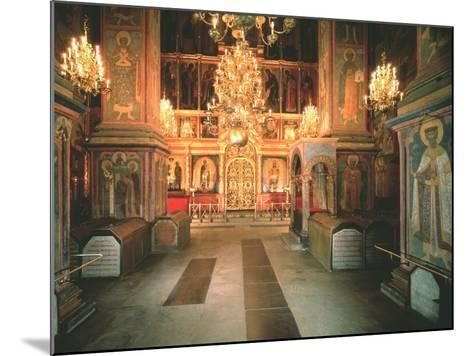 Interior of the Archangel Michael Cathedral in the Moscow Kremlin, 1679-1681--Mounted Photographic Print