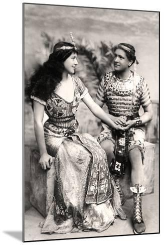 Ruth Vicent (1877-195) and Roland Cunningham in a Scene from Amasis, Early 20th Century--Mounted Photographic Print
