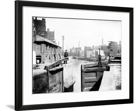 The Industrial Landscape on the Regent's Canal, London, C1905--Framed Art Print