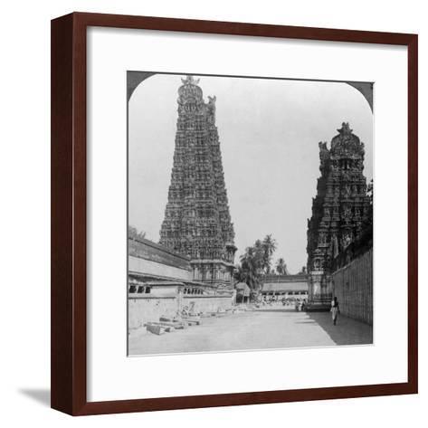 Gopuram, Sri Meenakshi Hindu Temple, Madurai, Tamil Nadu, India, C1900s-Underwood & Underwood-Framed Art Print