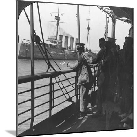 British Troops on a Troopship, World War I, C1914--Mounted Photographic Print