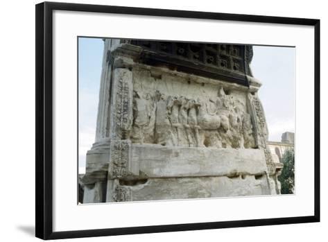 Arch of Titus, Forum, Rome, C81--Framed Art Print
