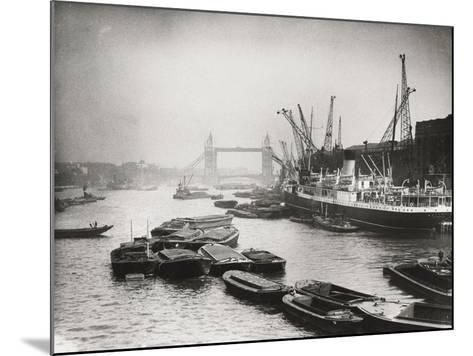 View of the Busy Thames Looking Towards Tower Bridge, London, C1920--Mounted Photographic Print