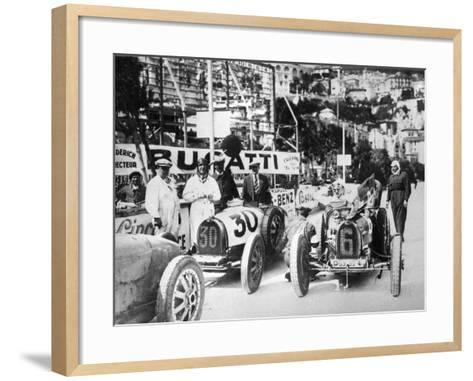 Scene During Practice for the Monaco Grand Prix, 1929--Framed Art Print