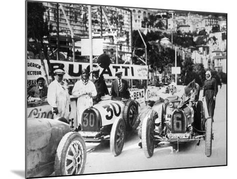 Scene During Practice for the Monaco Grand Prix, 1929--Mounted Photographic Print