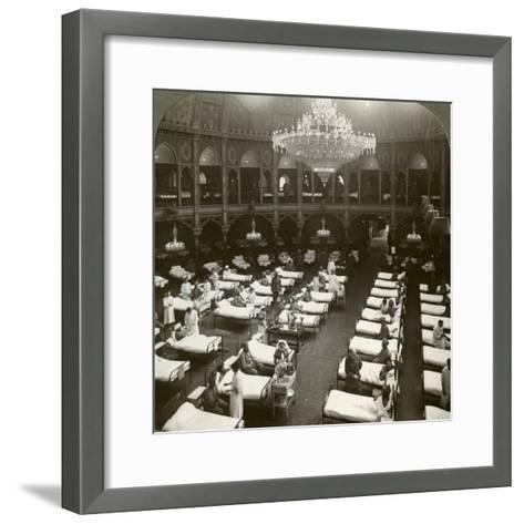 Interior of the Commodious Hospital at Brighton, Sussex, World War I, 1914-1918--Framed Art Print