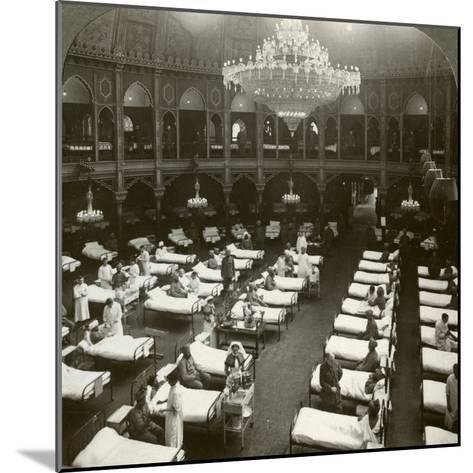 Interior of the Commodious Hospital at Brighton, Sussex, World War I, 1914-1918--Mounted Photographic Print