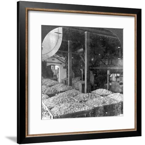 Making Paper from Rags, Holyoke, Massachusetts, USA, 20th Century--Framed Art Print