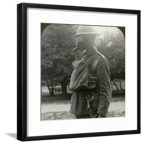 Infantry Fitted with the Latest Gas Marks and Steel Helmets, World War I, 1915-1918--Framed Art Print