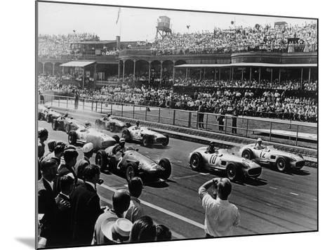 Start of the British Grand Prix, Aintree, Liverpool, 1955--Mounted Photographic Print