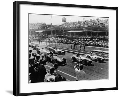 Start of the British Grand Prix, Aintree, Liverpool, 1955--Framed Art Print