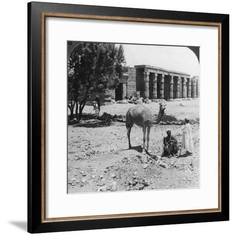 Looking North to the Temple of Sethos I, Thebes, Egypt, 1905-Underwood & Underwood-Framed Art Print