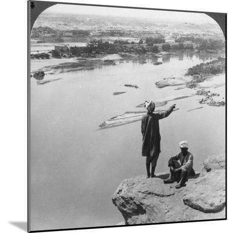Aswan and the Island of Elephantine as Seen from the Western Cliffs, Egypt, 1905-Underwood & Underwood-Mounted Photographic Print