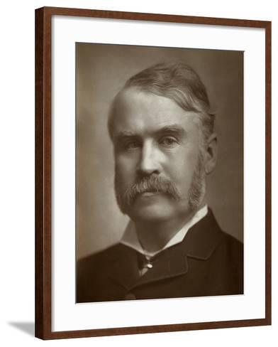 William Schwenck Gilbert, British Artist, Librettist, Playwright and Writer, 1883--Framed Art Print
