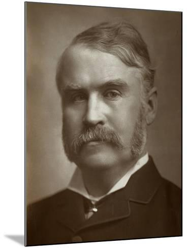 William Schwenck Gilbert, British Artist, Librettist, Playwright and Writer, 1883--Mounted Photographic Print