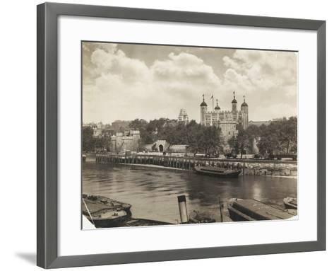 Tower of London from Tower Bridge, London, 1933--Framed Art Print