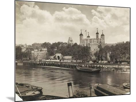 Tower of London from Tower Bridge, London, 1933--Mounted Photographic Print