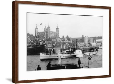 The Opening of Tower Bridge, London, 1894--Framed Art Print