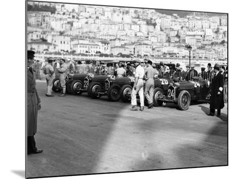A Line of Alfa Romeos at the Monaco Grand Prix, 1934--Mounted Photographic Print