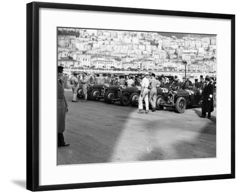 A Line of Alfa Romeos at the Monaco Grand Prix, 1934--Framed Art Print