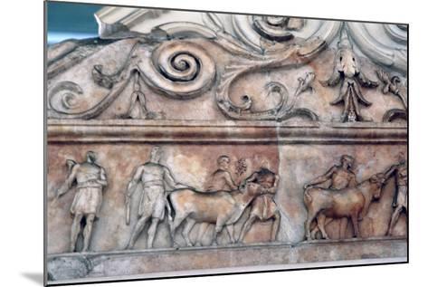 Sacrifice Scene on the Ara Pacis, Rome--Mounted Photographic Print