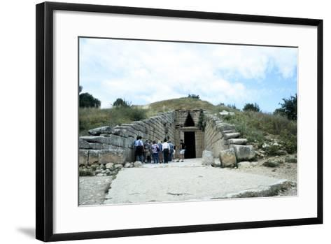 Entrance of a Tumulus at Mycenae, Late Bronze Age, Greece, C1450-C1100 Bc--Framed Art Print
