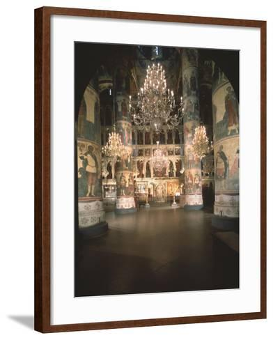 Interior with the Iconostasis in the Assumption of the Blessed Virgin Cathedral--Framed Art Print