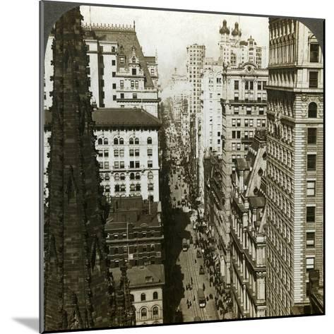 Trinity Church and Broadway, New York, Usa-Underwood & Underwood-Mounted Photographic Print