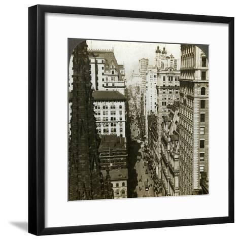 Trinity Church and Broadway, New York, Usa-Underwood & Underwood-Framed Art Print
