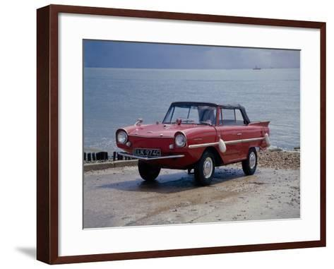 A 1965 Amphicar at the Water's Edge--Framed Art Print