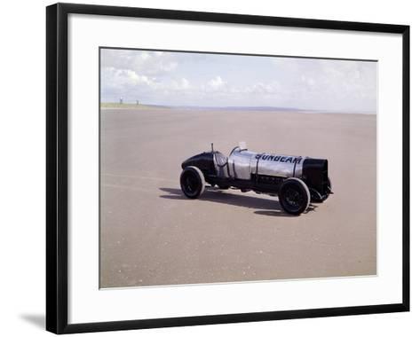 A 1920 350Hp Sunbeam, Pendine Sands, Wales--Framed Art Print