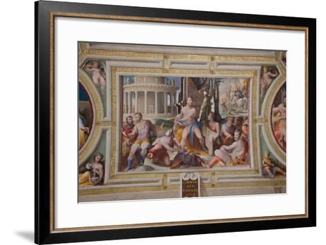 The Sacrifice of Codrus, King of Athens (Public Virtues of Greek and Roman Heroe), 1529-1535-Domenico Beccafumi-Framed Art Print