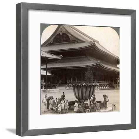 Main Front of Higashi Hongan-Ji, Largest Buddhist Temple in Japan, Kyoto, 1904-Underwood & Underwood-Framed Art Print