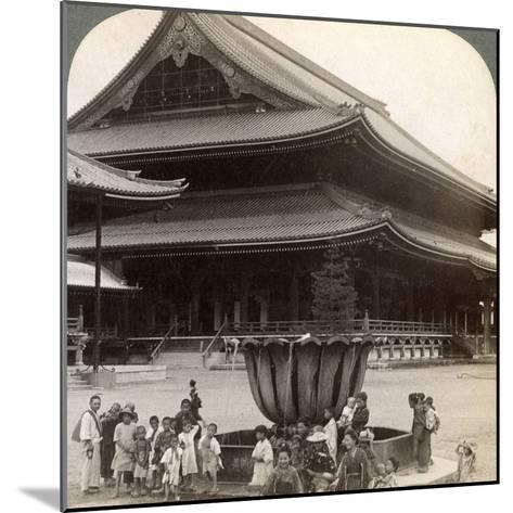 Main Front of Higashi Hongan-Ji, Largest Buddhist Temple in Japan, Kyoto, 1904-Underwood & Underwood-Mounted Photographic Print