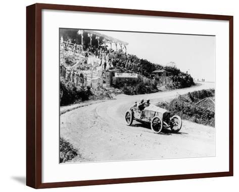 T Pilette in a Mercedes 4.5 Litre at the French Grand Prix, Lyons, 1914--Framed Art Print