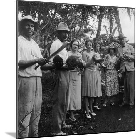 Tourists During a Halt by the Wayside, St Vincent, 1931--Mounted Photographic Print