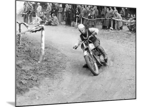 Gw Beamish on a Bsa 500Cc Motorbike, Brands Hatch, Kent, 1953--Mounted Photographic Print