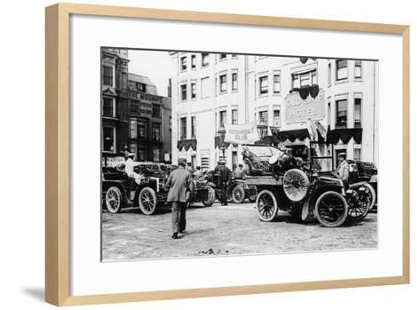 A 1903 Renault 10Hp Outside the Old Ship Hotel, Brighton, East Sussex, C1903--Framed Art Print