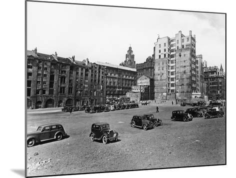 A Car Park, Brunswick Street, Liverpool, May 1946--Mounted Photographic Print