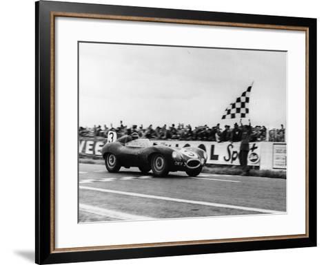 Ken Wharton in a Jaguar D Type, Rheims 12 Hours Race, France, 3rd July 1954--Framed Art Print