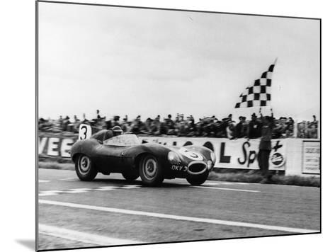 Ken Wharton in a Jaguar D Type, Rheims 12 Hours Race, France, 3rd July 1954--Mounted Photographic Print