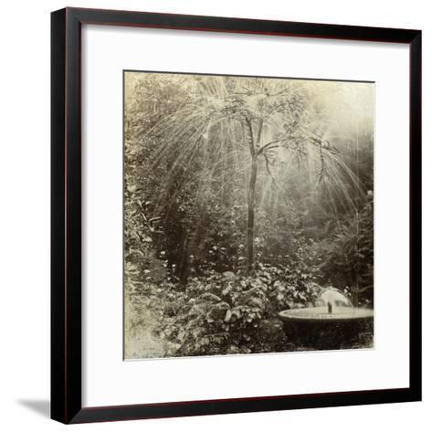 Willow Tree Fountain, Chatsworth, Derbyshire--Framed Art Print