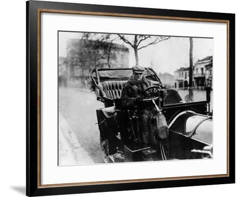 Lord Northcliffe at the Wheel of a 1908 135 Hp Mercedes, (C1908)--Framed Art Print