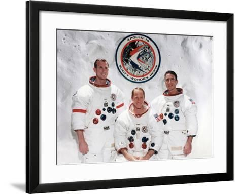 The Crew of the Apollo 15 Mission at the Manned Spacecraft Centre, Houston, Texas, 1971--Framed Art Print