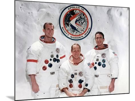 The Crew of the Apollo 15 Mission at the Manned Spacecraft Centre, Houston, Texas, 1971--Mounted Photographic Print