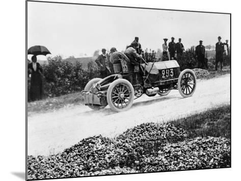 Mercedes 60 Hp Climbing a Hill on the Paris-Madrid Race, 1903--Mounted Photographic Print